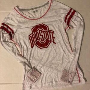 Ohio State Long Sleeve Burnout T-Shirt